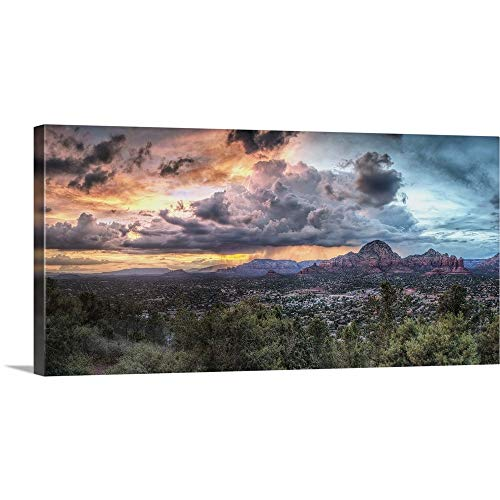 GREATBIGCANVAS Gallery-Wrapped Canvas Entitled Sunset with Clouds Over Sedona, Arizona by Scott Stulberg 30