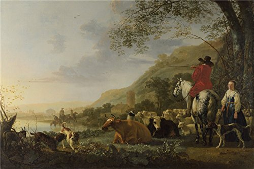 perfect-effect-canvas-the-best-price-art-decorative-prints-on-canvas-of-oil-painting-aelbert-cuyp-a-