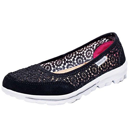 Noir Mailles Loafers Marche Ballerines Sandale Femmes Sneakers Antidérapant Cayuan Chaussures De Baskets Décontractées Sport xIBOHq