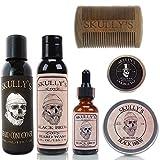 Skully's Ultimate Black Brew Beard Care Kit, beard kit for men