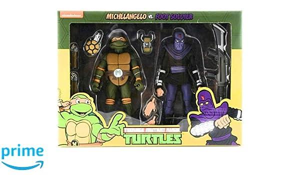 NECA Pack 2 Figuras Michelangelo vs Krang in Bubble Walker ...