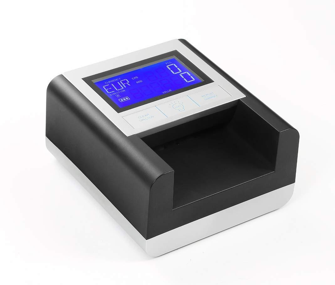 Counterfeit Money Detector EC500 Professional Multi Bill Currency Detector Money Detector for USD+EUR+GBP Portable UV Detection Financial Equipment Detector Counterfeit Money ECB Tested (Black) by EasyCount