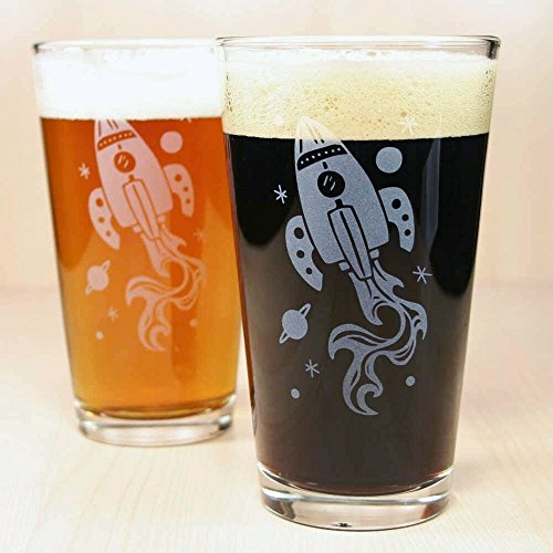 space pint glass - 1