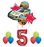 Hot Wheels 5th Birthday Party Supplies and Balloon Decorations