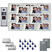 Apartment Video Intercom 13 seven inch color monitor door entry kit