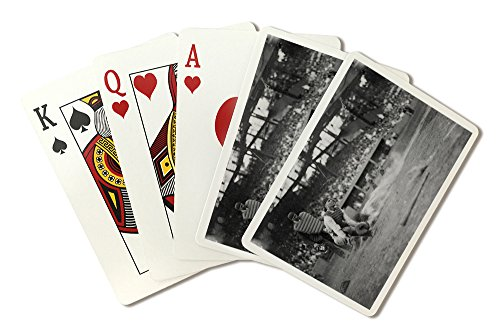 (Lou Gehrig Sliding into Home Plate Baseball - Vintage Photograph (Playing Card Deck - 52 Card Poker Size with)