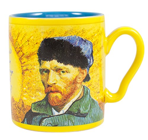 Van Gogh Disappearing Ear Mug - Add Coffee or Tea and Van Gogh's Ear Disappears - Comes in a Fun Gift Box