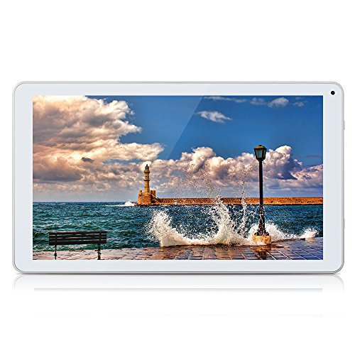 "Octa Core Tablet 10.1"" Google Android 5.1 Full HD Display 1.8gHz 1GB RAM, 16GB ROM, Dual Cameras,WiFi Bluetooth Mini HDMI,GMS Certified with One Year Warranty,iRULU eXpro 2Plus -X20,White"
