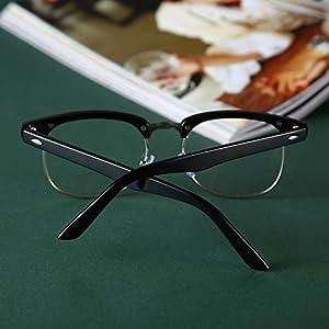 2015 Fashion reading eyewear Framed Glasses Optical Plain Glasses Black