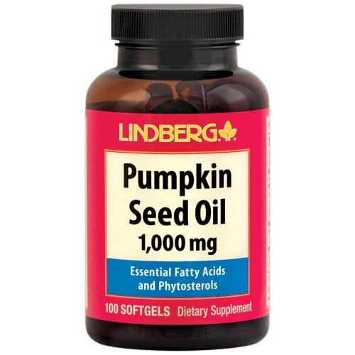 (Lindberg Pumpkin Seed Oil 1,000 mg - Essential Fatty Acids and Phytosterols)
