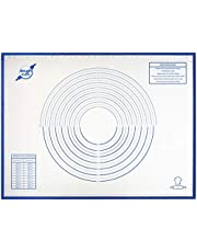 """Extra Large Silicone Pastry Mat - Non Stick Reusable XXL 32"""" x 24"""" Cooking Sheet Liner with Countertop Non-Slip Grip and Heat Resistant - Non-Toxic, BPA Free Jumbo Pastry Mat for Rolling Dough Cookies"""