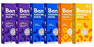 Banza Chickpea Pasta – High Protein Gluten Free Healthy Pasta – Mac & Cheese Variety Case (Pack of 6)