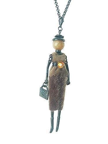 best loved 46526 9fac2 Kette Halskette Lange Kette mit Anhänger Puppe Dame Frau ...