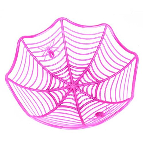 EBTOYS Halloween Spider Web Candy Biscuit Snack Fruit Plate Basket for Kindergarten Home Dining Room Bars Halloween Props Party Supplies Gift - Purple -