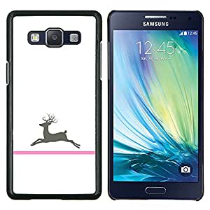 Stuss Case / Funda Carcasa protectora - Cáncer de ciervos Minimalista Blanca - Samsung Galaxy A5 ( A5000 ) 2014 Version