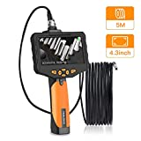 Teslong Classic Endoscope Basic-5.5mm-9.8ft Semi Rigid Waterproof Borescope, 3.5inch LCD Screen Inspection Camera with Tool Box, 6 LED Lights, 4X Zoom and Video Recording