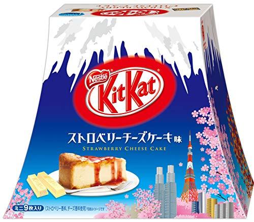 [중부지방] 킷캣 KitKat 미니 스트로베리 치즈 케익 맛 후지산 팩 9매