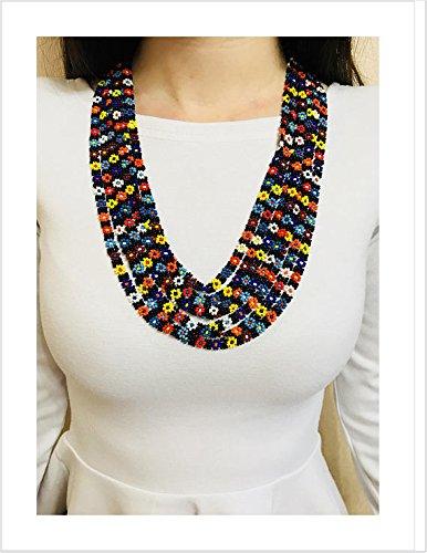 Flower Beads Handmade Beaded Earrings with Floral Glass Bead Beaded Jewelry Garden Inspired