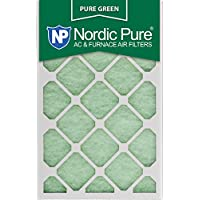 Nordic Pure 15x20x1PureGreen-3 AC Furnace Air Filters, 15 x 20 x 1, Pure Green