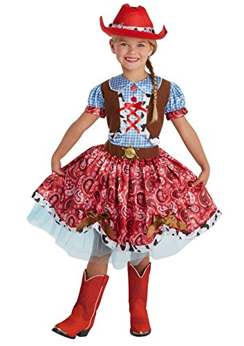 Palamon Big Girls' Cowgirl Halloween Buckaroo Costume Red/