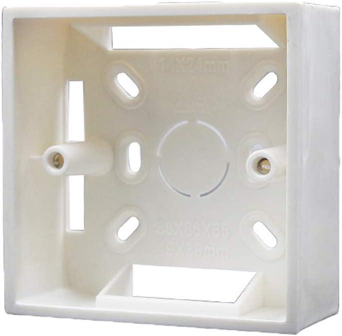 Cajas de empotrar universal para paredes 86 mm x 86 mm x 30 mm PVC para termostato-Blanco