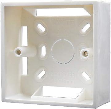 Cajas de empotrar universal para paredes 86 mm x 86 mm x 30 mm PVC para termostato-Blanco: Amazon.es: Bricolaje y herramientas