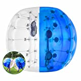 BestEquip Inflatable Bumper Ball Bubble Soccer 4FT/ 5FT for Adult Balls Human and Child Outdoor Inflatable Bumper Ball (Blue and Transparent, 5ft)