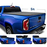"""Tyger Auto Black Top T3 Soft Tri-Fold Truck Tonneau Cover for 2015-2020 Chevy Colorado/GMC Canyon Fleetside 5'2"""" Bed TG-BC3C1039"""