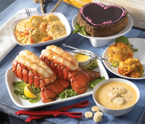 Lobster Gram LLGR2 LOTSA LOBSTA TAIL GRAM DINNER FOR 2