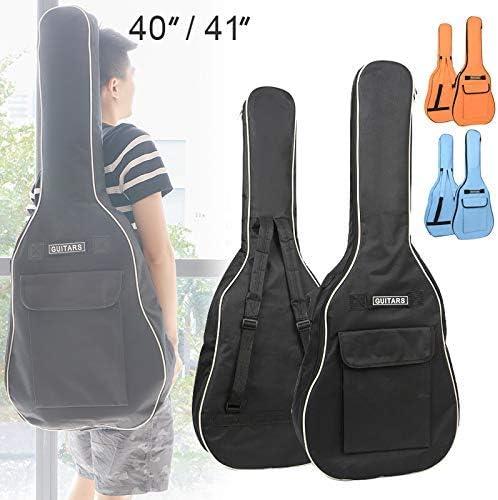 Black Guitar Bag Dual Adjustable Shoulder Strap Acoustic Guitar Gig Bag Waterproof 5mm Sponge Padded Gig Bag Case OriGlam 41 Inch Acoustic Guitar Bag