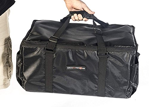 Insulated Food Delivery Bag - Commercial Quality Thermal Food Transport Bag - 22'' x 14'' x 11'' - Extra Strong Zipper With Thick Insulation Carrier - Large Black by DeliveryPizzaBags (Image #7)