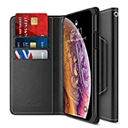 Maxboost Wallet Case Designed for Apple iPhone Xs MAX 2018 Phone [mWallet Folio Style] [Stand Feature] Protective PU Leather Flip Cover with Credit Card Slots+Side Cash Pocket+Magnetic Clasp Closure