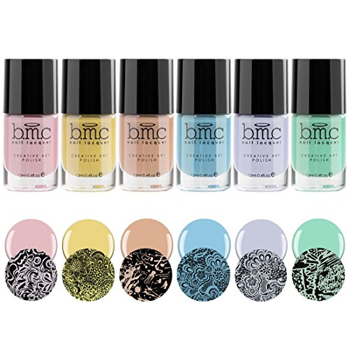 Maniology (formerly bmc) By Bundle Monster 6pc Pastel Color Nail Stamping Polish Set - Whatever Forever