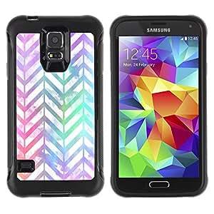 Paccase / Suave TPU GEL Caso Carcasa de Protección Funda para - Shiny Iridescent White Teal - Samsung Galaxy S5 SM-G900