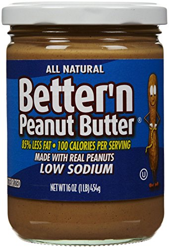 Calories Peanut Butter - Better N Peanut Butter Low Sodium Low Fat Peanut Spread, 16 oz