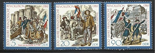 Germany DDR - 1989 MNH 3v. Complete Set. The 200th Anniv. of the French Revolution