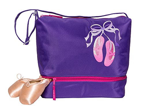 Horizon Dance 1304 Giggle Toes Small Dance Tote Bag with Shoe Compartment - Purple