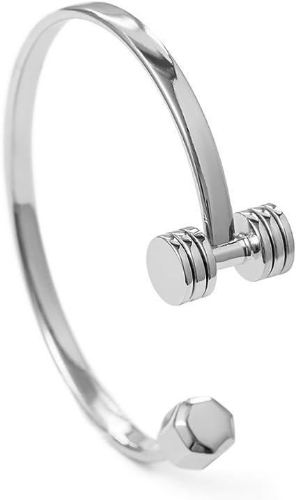 gym bangle bracelet motivation barbell jewelry Fitness dumbbell charm bracelet personalised willpower gift