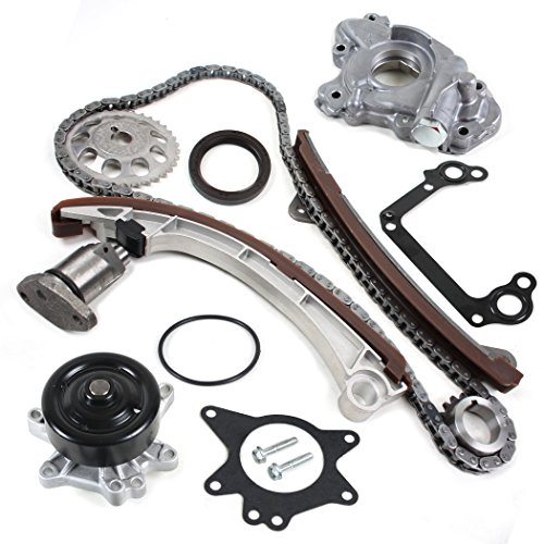(CNS TK1030WPOP Brand New OE Replacement Timing Chain Kit, Water Pump Set, & Oil Pump Set for VVT-i Engine