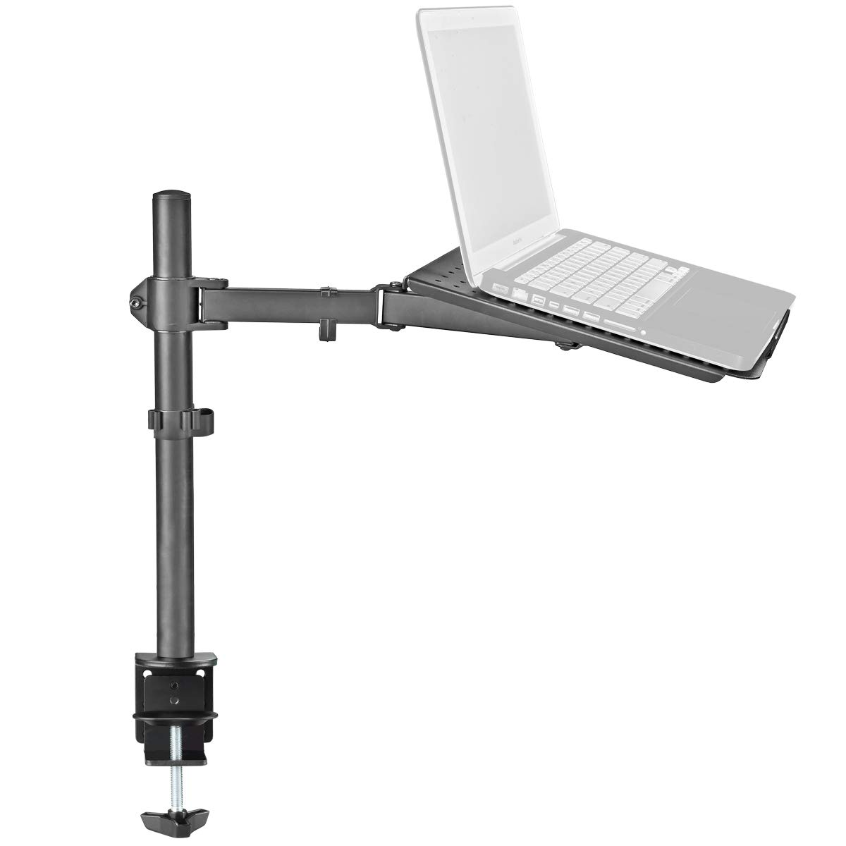 Bracwiser Laptop Notebook Stand Desk C-clamp Mount Fully Adjustable Tilt Swivel Rotation
