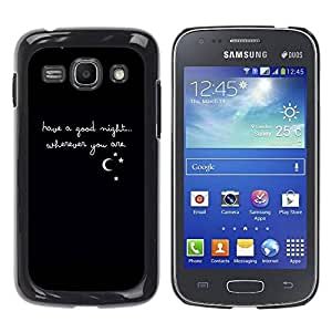 Paccase / SLIM PC / Aliminium Casa Carcasa Funda Case Cover para - Night Quote Sweetheart Girlfriend Love - Samsung Galaxy Ace 3 GT-S7270 GT-S7275 GT-S7272