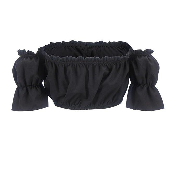 9ba25cd33b6932 Amazon.com  Off Shoulder Crop Top - Anxinke Women Casual Short Sleeve  Drawstring Strapless Shirts Tube Top  Clothing