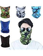 Summer Face Cover Breathable Scarf Mask Men Sun Protection Neck Gaiter Versatile Headwrap …