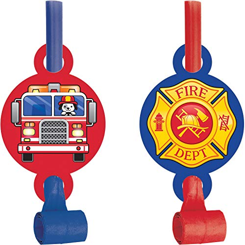 Fire Truck Party Blowers, 24 ct -