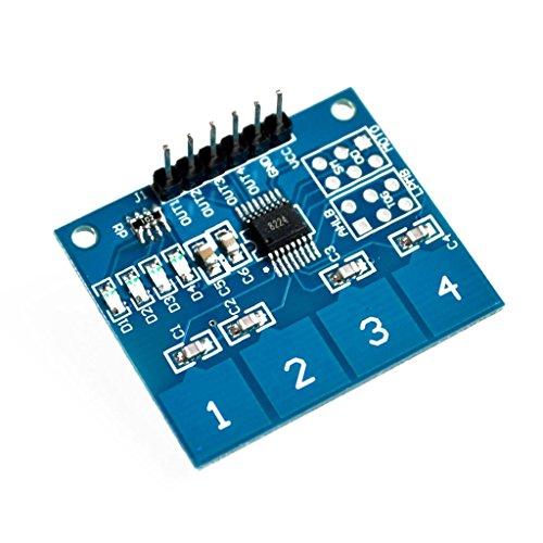 5PCS / LOT TTP224 4ウェイ4チャンネル静電容量式タッチスイッチデジタルタッチセンサーモジュール