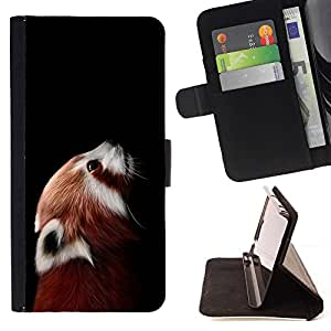 Momo Phone Case / Flip Funda de Cuero Case Cover - Little Red Panda Cara linda Retrato Animal - HTC One Mini 2 M8 MINI