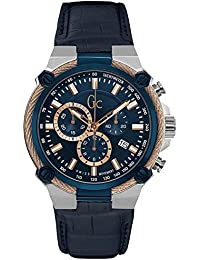 Guess Gc Collection Guess Collection Mens Leather Watch Blue