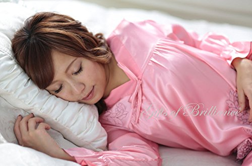 Gifts of Brilliance 極上の睡眠をあなたに レディース はじめての シルク パジャマ 長袖 絹 女性 用 ルームウェア 部屋着 上下 プレゼント ギフト 包装可