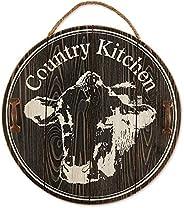 DII CAMZ11437 Farmhouse Framed Wall Art Sign, Cow Kitchen