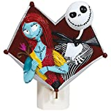 Tim Burton Nightmare Before Christmas Jack And Sally Heart Nightlight